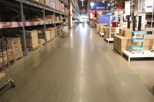 深圳西丽宜家商场pvc胶地板案例
